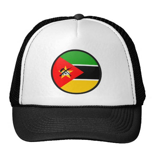 Círculo de la bandera de la calidad de Mozambique Gorros Bordados