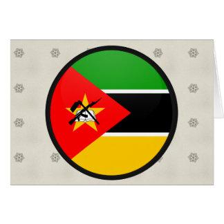 Círculo de la bandera de la calidad de Mozambique Tarjeta De Felicitación