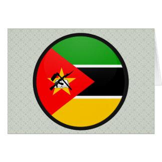Círculo de la bandera de la calidad de Mozambique Felicitación