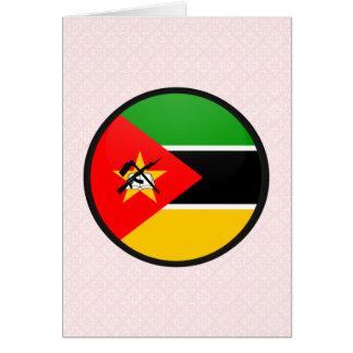 Círculo de la bandera de la calidad de Mozambique Felicitacion