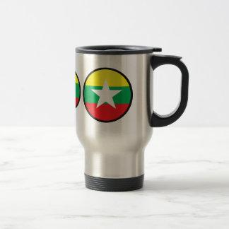Círculo de la bandera de la calidad de Myanmar Taza De Café