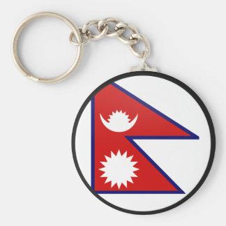 Círculo de la bandera de la calidad de Nepal Llavero Redondo Tipo Pin