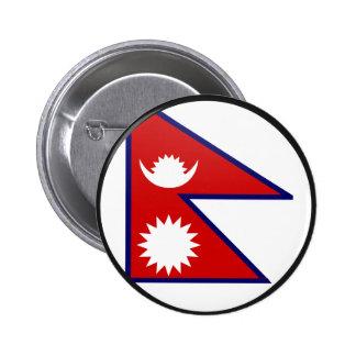 Círculo de la bandera de la calidad de Nepal Pins