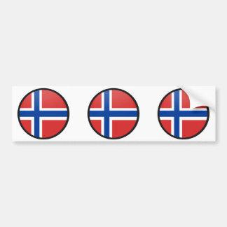 Círculo de la bandera de la calidad de Noruega Etiqueta De Parachoque