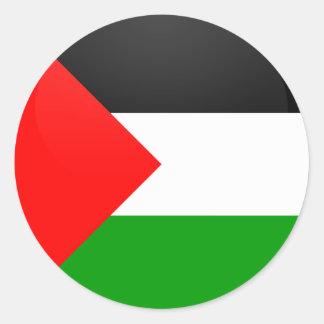Círculo de la bandera de la calidad de Palestina Pegatina Redonda