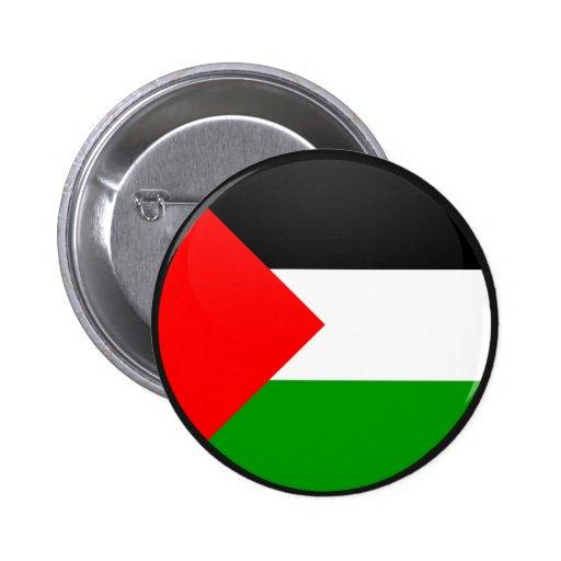 Círculo de la bandera de la calidad de Palestina Pin Redondo 5 Cm