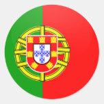 Círculo de la bandera de la calidad de Portugal Pegatina Redonda