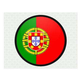 Círculo de la bandera de la calidad de Portugal Tarjetas Postales