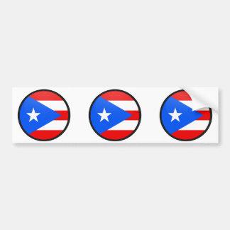 Círculo de la bandera de la calidad de Puerto Rico Pegatina Para Auto