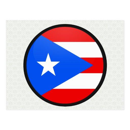 Círculo de la bandera de la calidad de Puerto Rico Postal