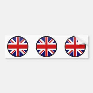 Círculo de la bandera de la calidad de Reino Unido Pegatina De Parachoque