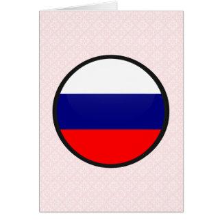 Círculo de la bandera de la calidad de Rusia Felicitacion