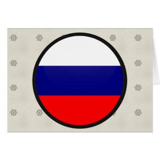 Círculo de la bandera de la calidad de Rusia Felicitaciones