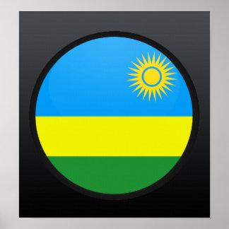 Círculo de la bandera de la calidad de Rwanda Posters