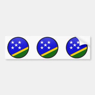 Círculo de la bandera de la calidad de Solomon Isl Pegatina Para Auto