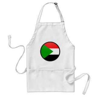 Círculo de la bandera de la calidad de Sudán Delantal