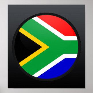 Círculo de la bandera de la calidad de Suráfrica Poster