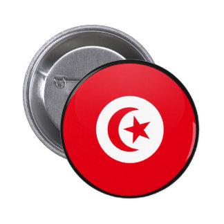 Círculo de la bandera de la calidad de Túnez Pin Redondo 5 Cm