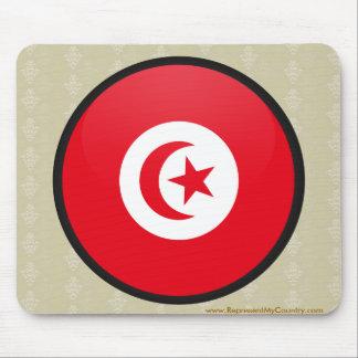 Círculo de la bandera de la calidad de Túnez Mouse Pad