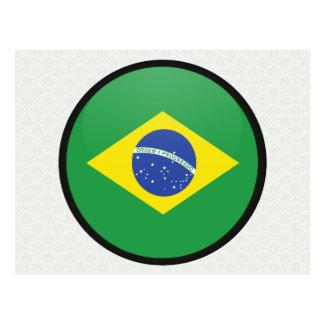 Círculo de la bandera de la calidad del Brasil Tarjeta Postal