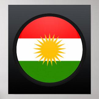 Círculo de la bandera de la calidad del Kurdistan Posters