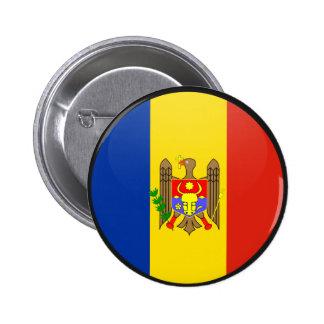Círculo de la bandera de la calidad del Moldavia Pin Redondo 5 Cm