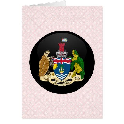 Círculo de la bandera de la calidad del territorio tarjeta de felicitación