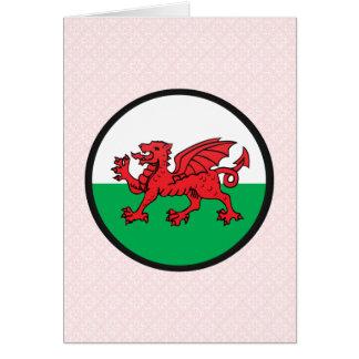 Círculo de la bandera de la calidad Galés Felicitacion