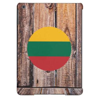 Círculo de la bandera de Lituania en el fondo de Funda Para iPad Air