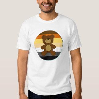 Círculo de la bandera del arco iris del orgullo camisas