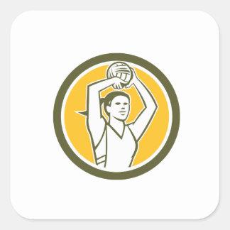 Círculo de la bola del tiroteo del jugador del calcomanías cuadradass personalizadas