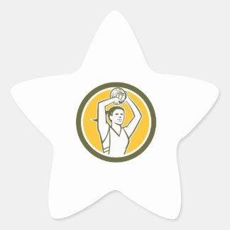 Círculo de la bola del tiroteo del jugador del colcomanias forma de estrella personalizadas