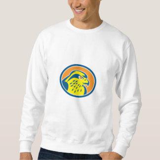 Círculo de la cabeza del halcón de peregrino retro pulovers sudaderas