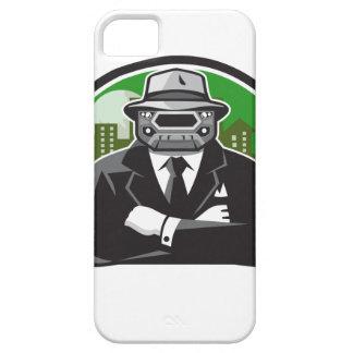 Círculo de la cara de la parrilla del coche del iPhone 5 fundas