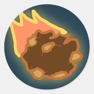 Círculo de la carne 5 pegatina redonda