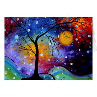 Círculo de la chispa del invierno de la pintura de tarjeta de felicitación