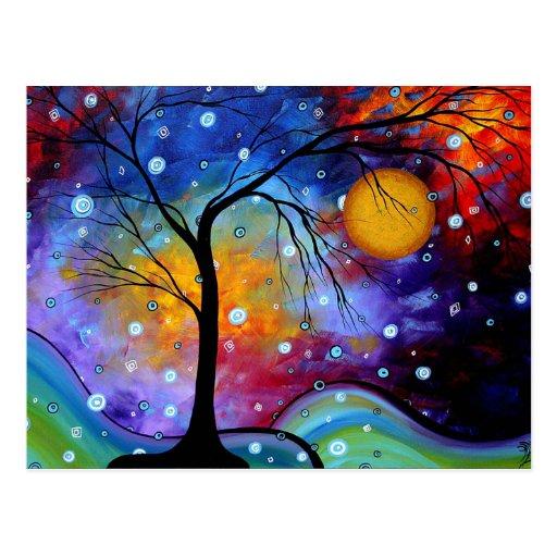 Círculo de la chispa del invierno de la pintura de postal