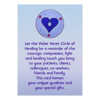 Círculo de la cura - la tarjeta del cuidador tarjeta de visita