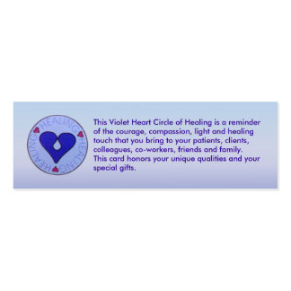 Círculo de la cura - tarjeta del perfil del cuidad tarjetas de visita