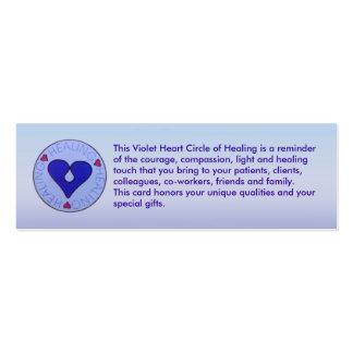 Círculo de la cura - tarjeta del perfil del tarjetas de visita mini