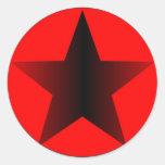 Círculo de la estrella etiquetas redondas
