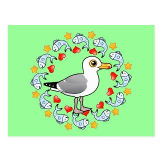 Círculo de la gaviota del amor postal