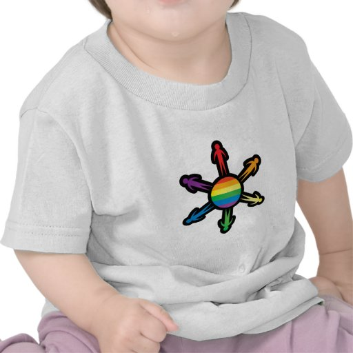 Círculo de la gente del arco iris camisetas