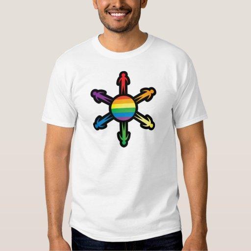 Círculo de la gente del arco iris playera