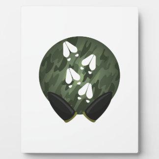 Círculo de la impresión de los ciervos placa