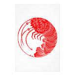 Círculo de la langosta espinosa  papeleria de diseño