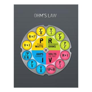 """Círculo de la ley de ohmio folleto 8.5"""" x 11"""""""