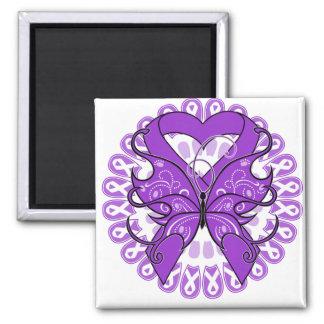 Círculo de la mariposa de la enfermedad de Alzheim Imanes De Nevera
