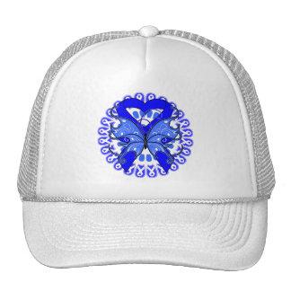 Círculo de la mariposa del cáncer de colon de cint gorros