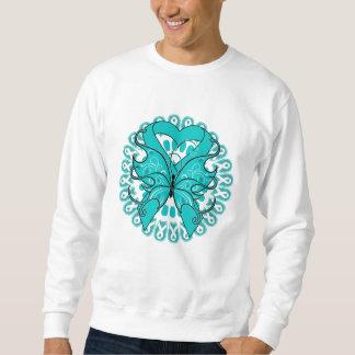 Círculo de la mariposa del cáncer ovárico de sudadera